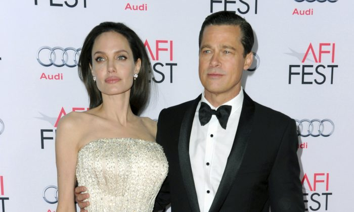 Angelina Jolie and Brad Pitt at the 2015 AFI Fest on Nov. 5, 2015. (Richard Shotwell/Invision/AP)