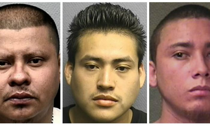 Anibal Antonio Guevara (L), Jonathan Steven Guevara (C) and Giovani Antonio Herrera (R) were sentenced to years in prison on Aug. 8, 2018. (Houston Police Department)