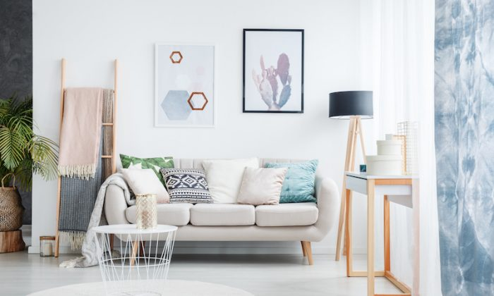 There are a few tricks that architects use to make spaces appear bigger—and you can use them too. Lighter colors best reflect light and so create the appearance of space. (Shutterstock)
