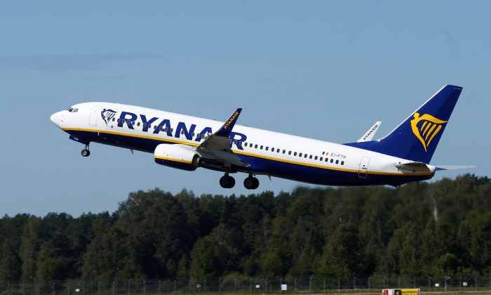 Ryanair Boeing 737-800 aircraft takes off in Riga International Airport, Latvia, on Aug. 8, 2018. (Reuters/Ints Kalnins/File Photo)
