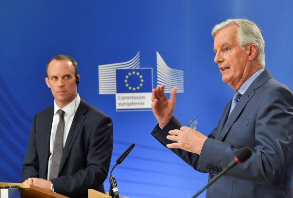 Barnier, Raab after Brexit talks