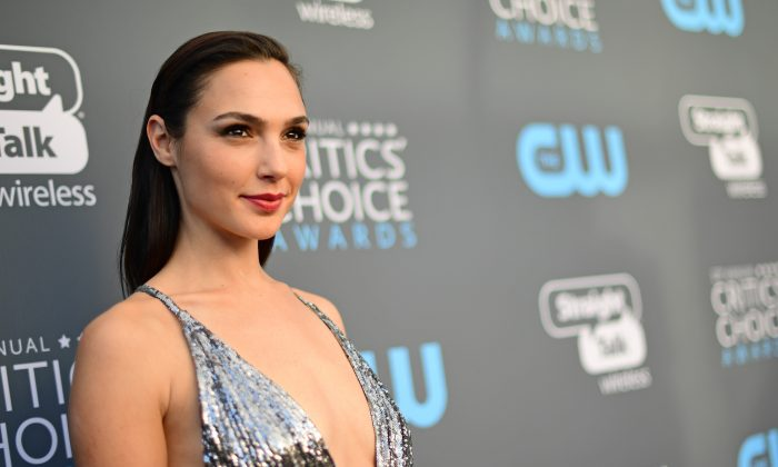 SANTA MONICA, CA - JANUARY 11:  Actor Gal Gadot attends The 23rd Annual Critics' Choice Awards at Barker Hangar on January 11, 2018 in Santa Monica, California.  (Photo by Matt Winkelmeyer/Getty Images for The Critics' Choice Awards  )