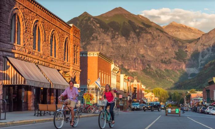 Telluride's main street, Colorado Avenue. (Courtesy of Visit Telluride)