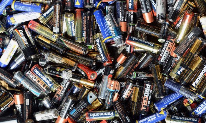 Used batteries, on September 18, 2012, in Marseille, southern France. (Gerard Julien/AFP/GettyImages)