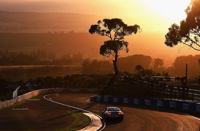Rick Kelly drives the #1 Nismo Athlete Global Team Nissan GT-R Nismo GT3 during the Bathurst 12 Hour Race at Mount Panorama on Feb. 7, 2016 in Bathurst, Australia. (Photo by Daniel Kalisz/Getty Images)