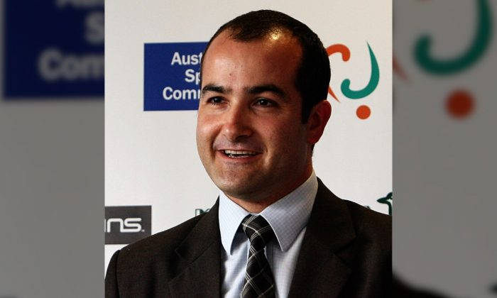 Victorian Minister of Education James Merlino makes an announcement. (Robert Prezioso/Getty Images)
