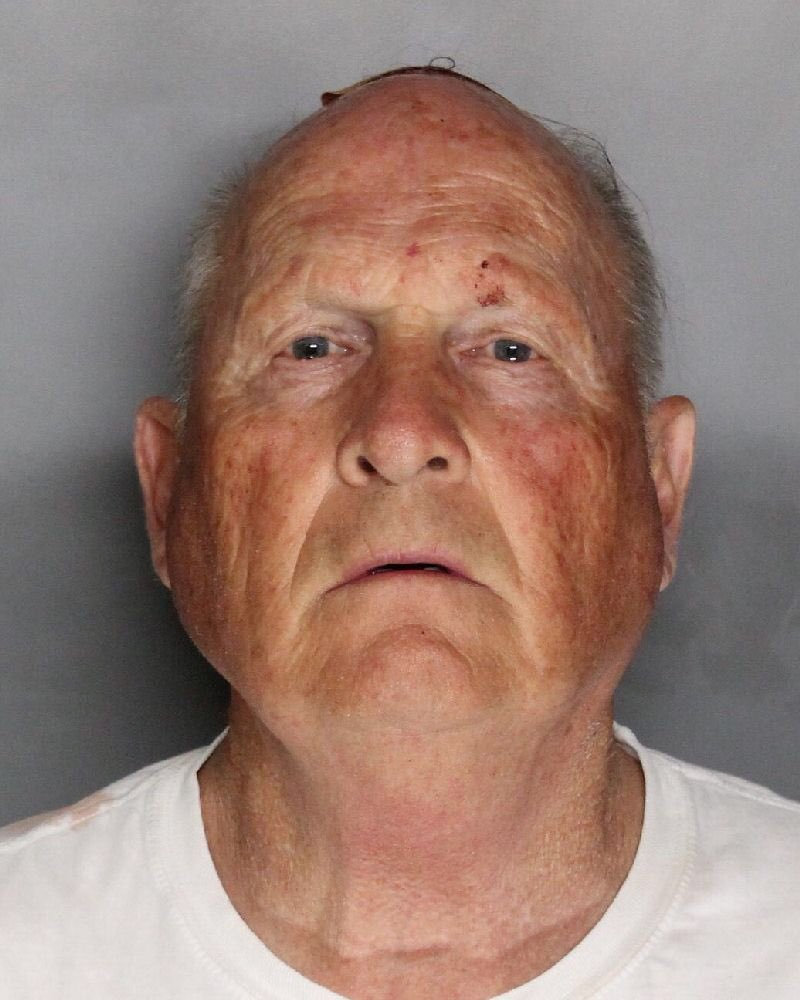 Joseph James Deangelo, 72 appears in a booking photo provided by the (Sacramento County Sheriff's Department, April 25, 2018. Sacramento County Sheriff's Department/Handout via Reuters)