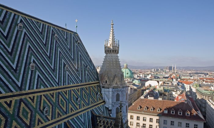 The view from the bell tower of St. Stephen's Cathedral in Stephansplatz, Vienna, in this file photo. (Scott Barbour/Getty Images)