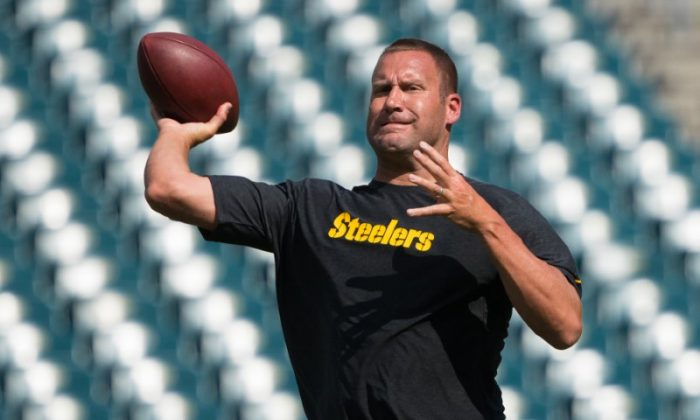 Pittsburgh Steelers quarterback Ben Roethlisberger warms up before a game against the Philadelphia Eagles at Lincoln Financial Field on Aug. 9, 2018. (Bill Streicher/USA Today Sports)