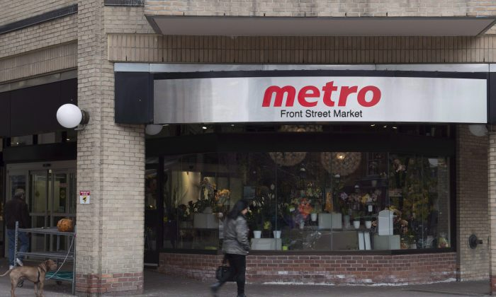 Metro Inc. said to expect higher food costs in the near future due to tariffs. (The Canadian Press/Doug Ives)