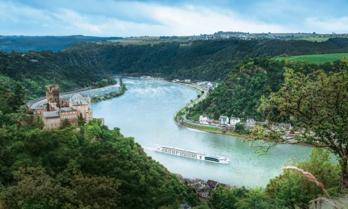 The S.S. Maria Theresa sailing on the Danube River.  (Courtesy of Uniworld River Cruises)