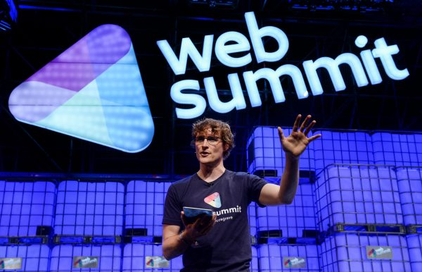 Paddy Cosgrave speaks at a previous Web Summit event