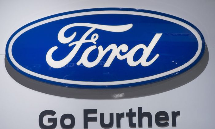File photo: The Ford logo is seen during the 2017 North American International Auto Show in Detroit, Michigan, January 10, 2017. (Saul Loeb/AFP/Getty Images)
