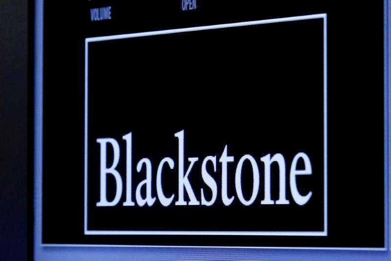 The logo of Blackstone Group.