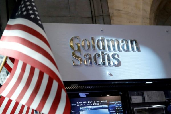 A view of the Goldman Sachs stall.