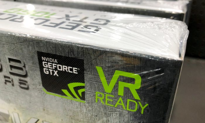 NVIDIA computer graphic cards are shown for sale at a retail store in San Marcos, California on August 14, 2018.  (Reuters/Mike Blake)