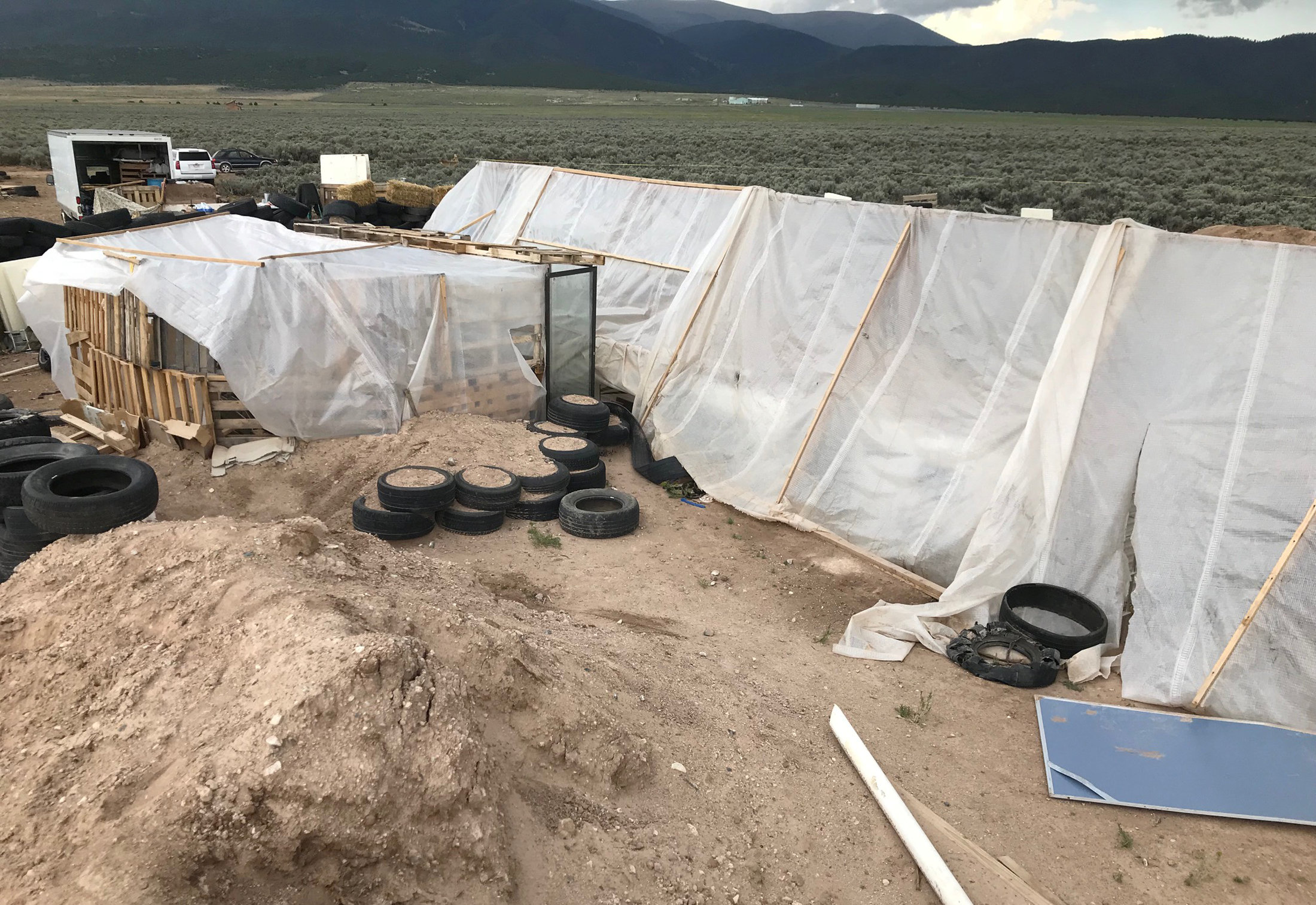 The compound where 11 children were taken in protective custody after a raid by authorities near Amalia, New Mexico