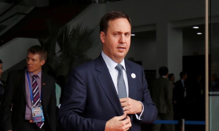 File photo: Australia's Trade Minister Steven Ciobo leaves after the Trans-Pacific Partnership (TPP) talks during APEC Summit in Danang, Vietnam, November 9, 2017. (Reuters/Kham)