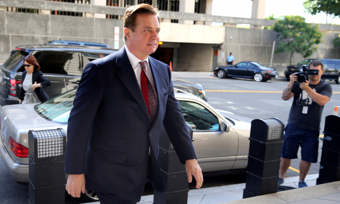 Veteran political consultant Paul Manafort arrives for arraignment on a third superseding indictment against him by Special Counsel Robert Mueller on charges of witness tampering, at U.S. District Court in Washington on June 15, 2018. (Jonathan Ernst/Reuters)