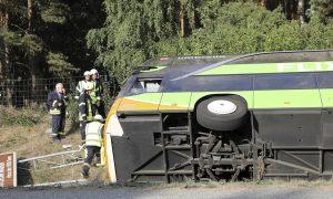 Long-Distance Bus Overturns on German Highway, 22 Hurt