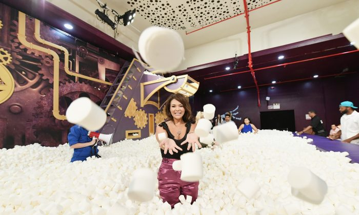 A fake marshmallow pit is among the Instagrammable attractions at Candytopia. (Mike Coppola/Getty Images for Candytopia)