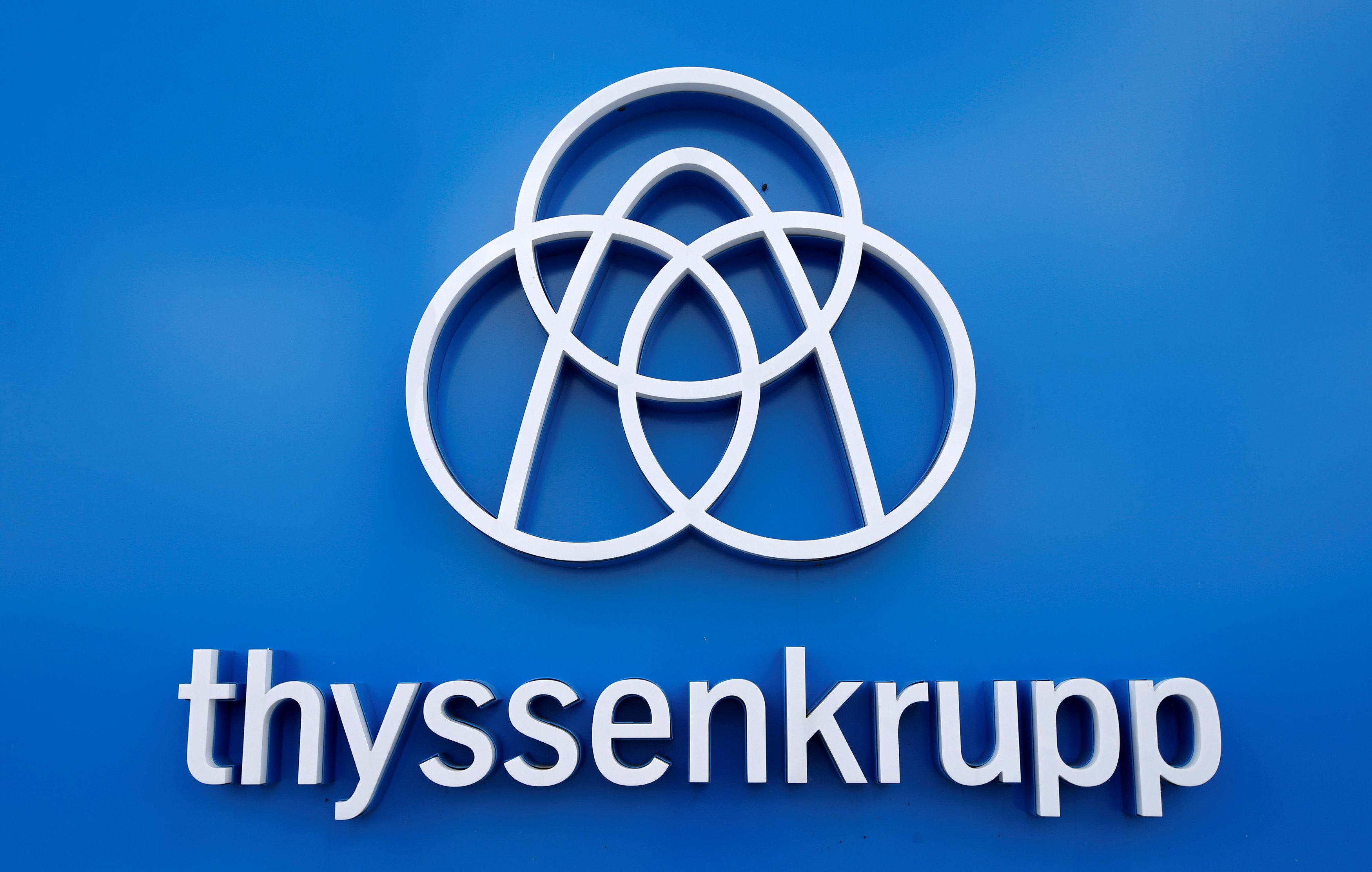 Thyssenkrupp's logo.
