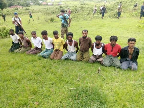 Rohingya men shortly before they were killed by security forces