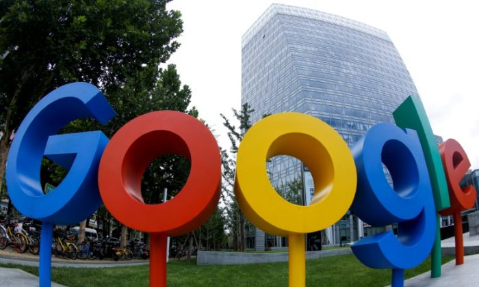 The logo of Alphabet Inc's Google outside its office in Beijing, China August 8, 2018. (Reuters/Thomas Peter)