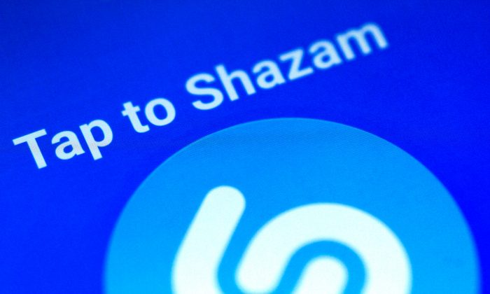 Illustration photo of the Shazam application on a mobile phone December 12, 2017. (Reuters/Thomas White)