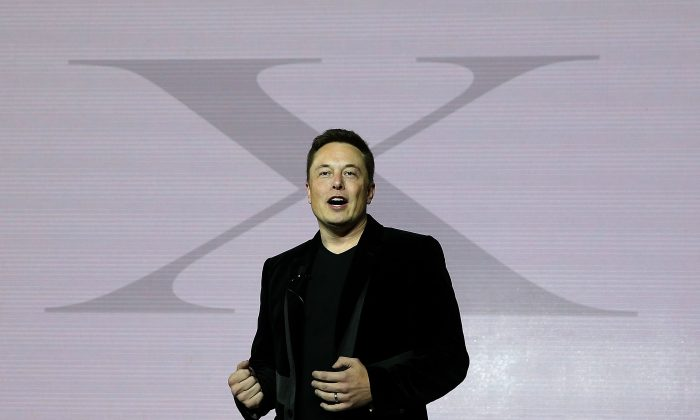 Tesla CEO Elon Musk speaks during an event to launch the Tesla Model X Crossover SUV on September 29, 2015 in Fremont, Calif. (Justin Sullivan/Getty Images)