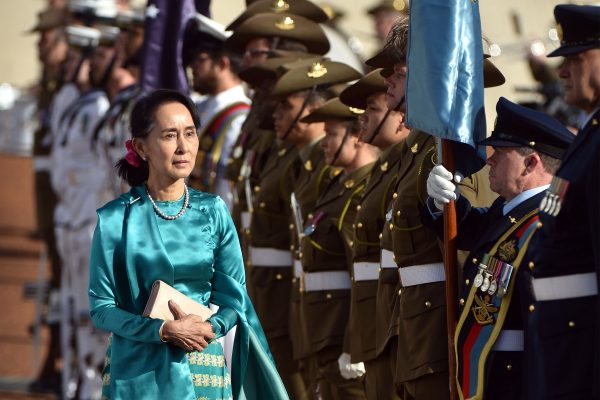 Aung San Suu Kyi receives an official welcome in Australia
