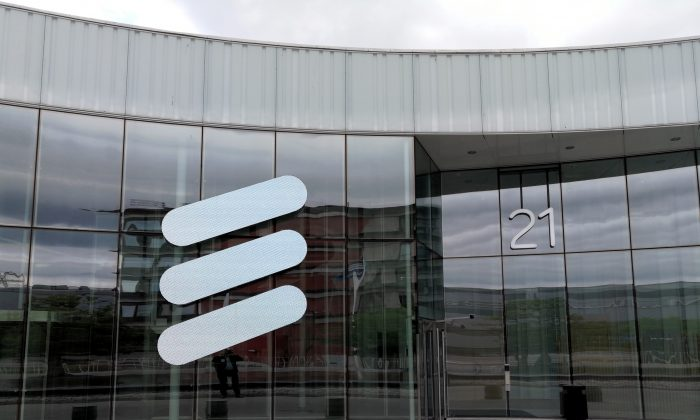 The Ericsson logo is seen at the Ericsson's headquarters in Stockholm, Sweden on June 14, 2018. (Reuters/Olof Swahnberg