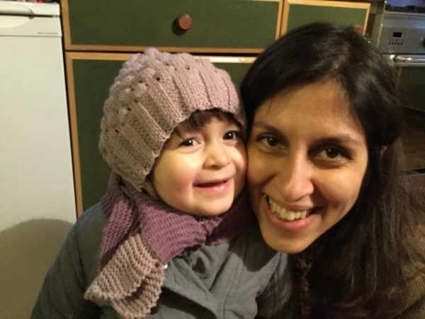 Nazanin Zaghari-Ratcliffe and her daughter Gabriella pose for a photo in London on Feb. 7, 2016.