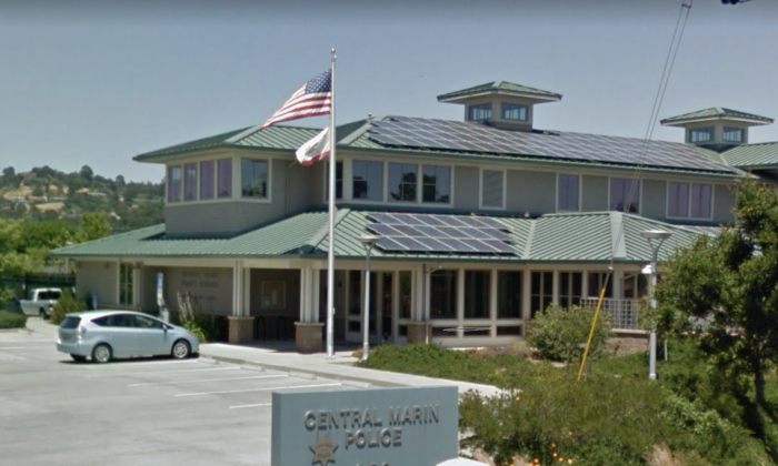 Central Marin Police Authority at 250 Doherty Dr, Larkspur, CA 94939. (Map data @2018 Google).