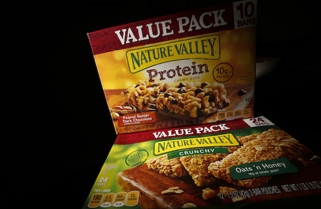 Boxes of Nature Valley bars are seen in this photo illustration in Wilmette, Illinois, Sept. 12, 2014. (Reuters/Jim Young)