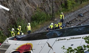 Four Killed and 20 Hurt as Bus Plunges Off Bridge in Finland