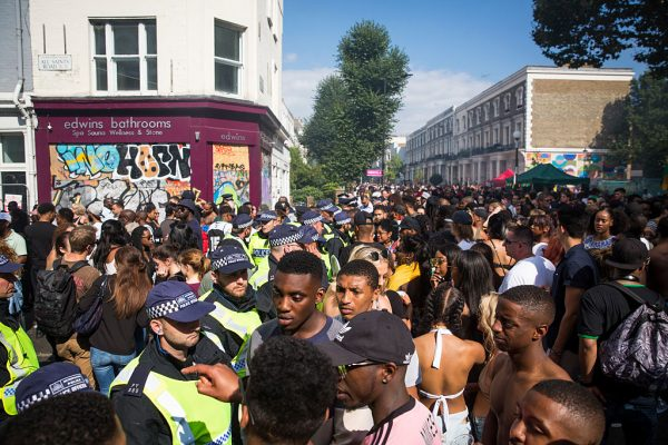 A general view of the crowd at Notting Hill Carnival