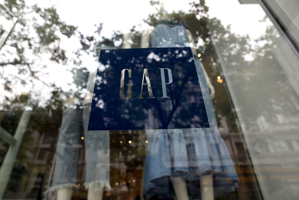 The Gap logo is displayed on a window.