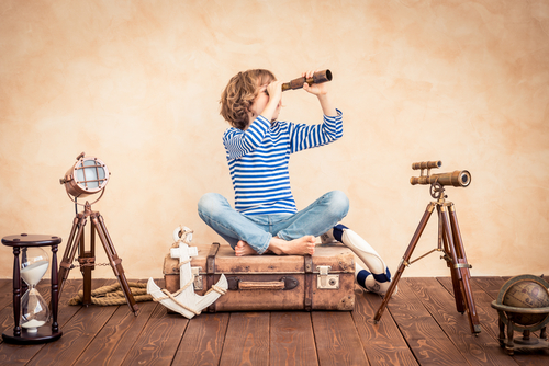 Encourage children's creativity and exploration at home by providing the space and tools they need. (Shutterstock)