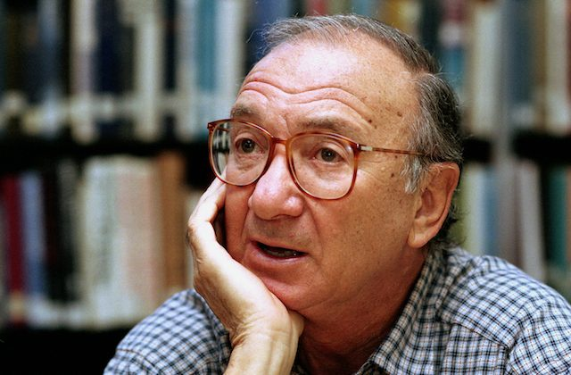 American playwright Neil Simon answers questions during an interview in Seattle, Wa., Sept. 22, 1994. (AP Photo/Gary Stuart)