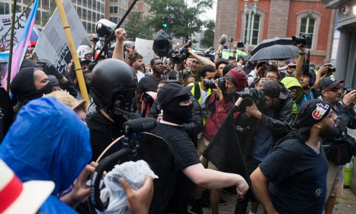 Police Arrest 16 Antifa Members During Clashes in Philadelphia
