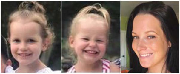 from left, Bella Watts, Celeste Watts and Shanann Watts. (The Colorado Bureau of Investigation via AP)