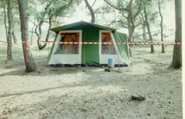 The tent where Nicky was staying.
