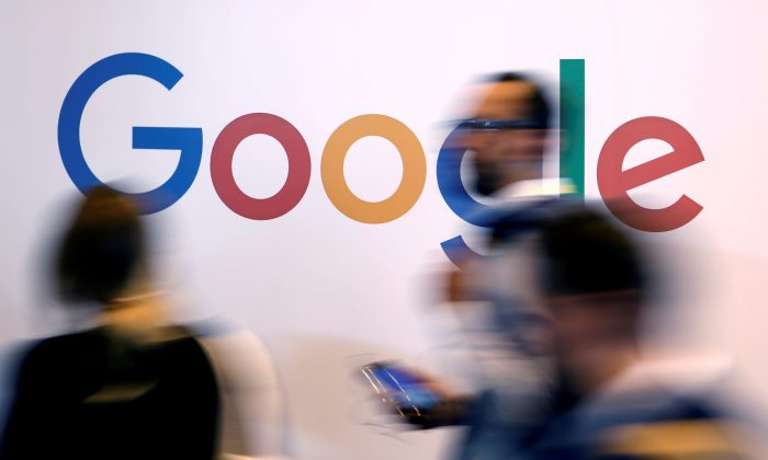 The logo of Google is pictured during the Viva Tech startup and technology summit in Paris, France, on May 25, 2018. (Reuters/Charles Platiau)