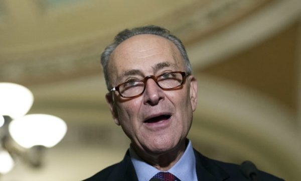 In this file photo, Sen. Charles Schumer (D-N.Y.), speaks to the media on Capitol Hill in Washington. (Molly Riley/AP Photo)