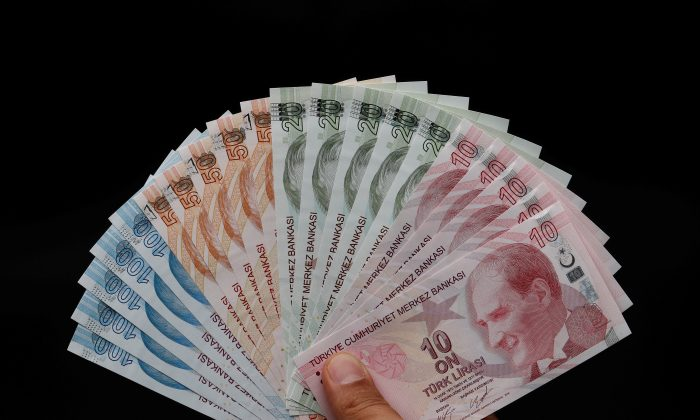 Turkish lira banknotes are seen in this picture illustration in Istanbul, Turkey, Aug. 14, 2018. (Reuters/Murad) Sezer/Illustration/File Photo