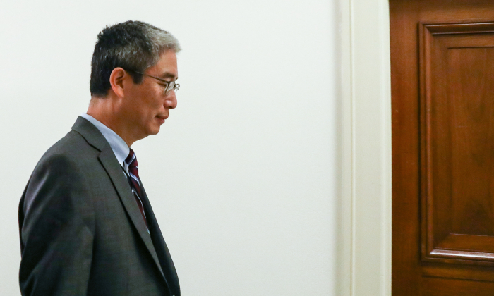 Bruce Ohr, a Justice Department official demoted from the posts ofassociate deputy attorney general and director of the Organized Crime Drug Enforcement Task Force, leaves for a lunch break from a closed hearing with the House Judiciary and House Oversight and Government Reform committees on Capitol Hill in Washington, on Aug. 28, 2018. (Samira Bouaou/The Epoch Times)