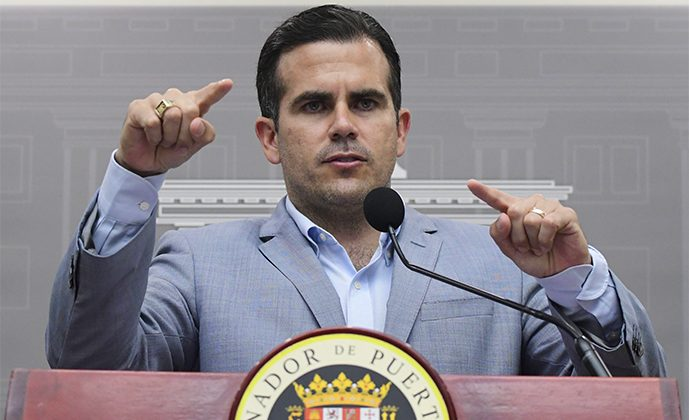 Puerto Rico Gov. Ricardo Rossello during a press conference regarding the number of estimated deaths in the aftermath of Hurricane Maria, in San Juan, Puerto Rico, Aug. 28, 2018. (Carlos Giusti/AP Photo)