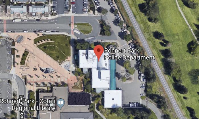 Rohnert Park Police Department. 500 City Center Dr, Rohnert Park, CA 94928. (Map data @2018 Google).