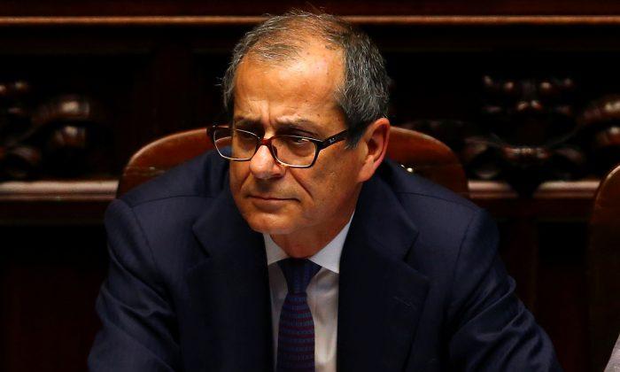 Italian Economy Minister Giovanni Tria